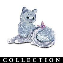 Faceted glass Cat Figurine Collection