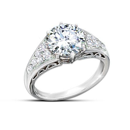 'Reign Of Romance' Diamonesk Replica Royal Engagement Ring