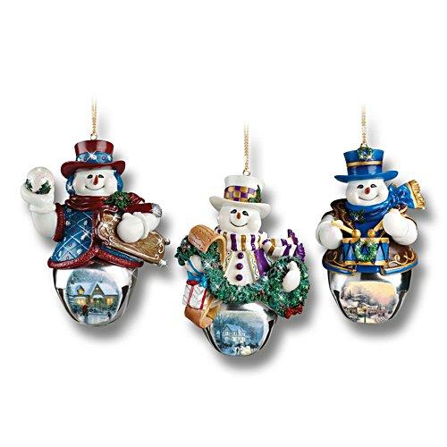 Thomas Kinkades sneeuwpop-kerstklokken