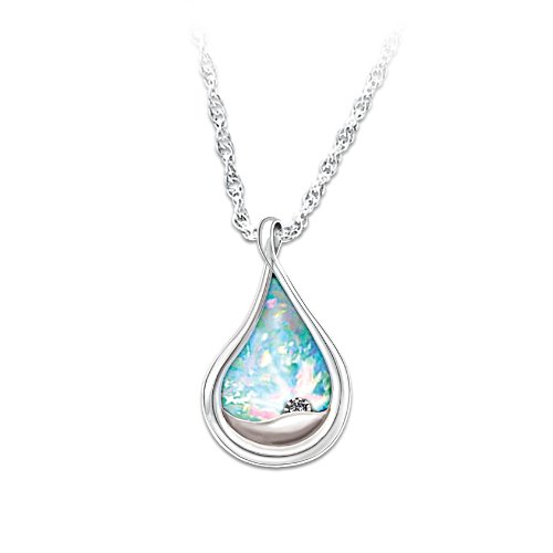 Diamond And Opal Bereavement Pendant