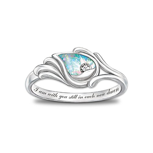 'I Am With You' Diamond And Opal Ring