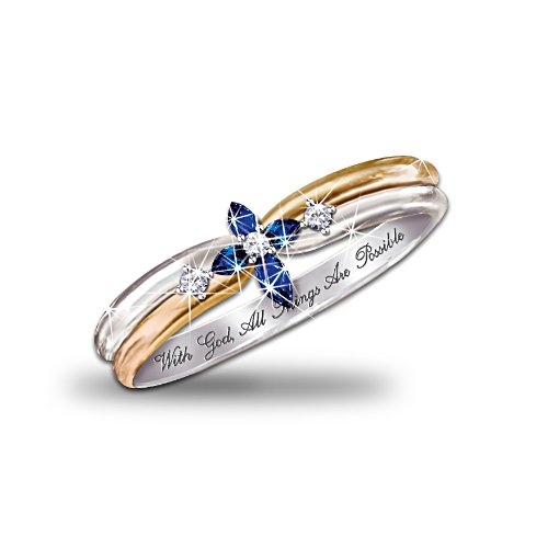 'The Holy Trinity' Sapphire And Diamond Ring