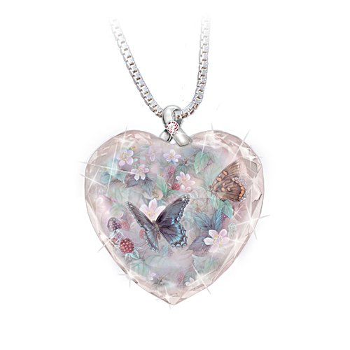Butterflies of Hope Breast Cancer Support Pendant