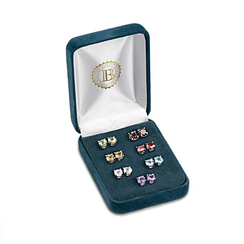 """A Week Of Genuine Gemstones"" Stud Earrings"