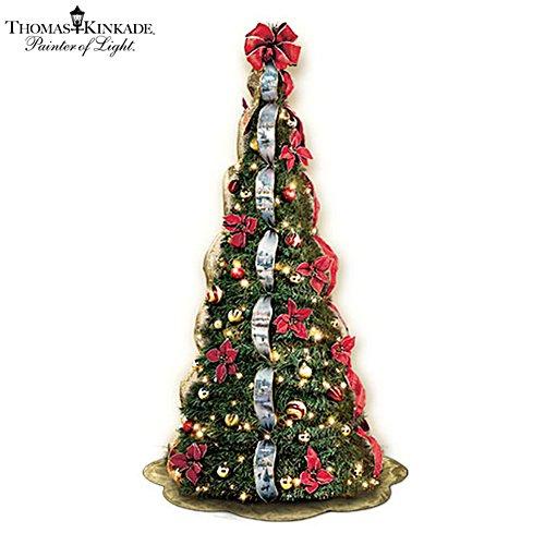 First-Ever Thomas Kinkade 6' Pre-Lit Pull-Up Christmas Tree
