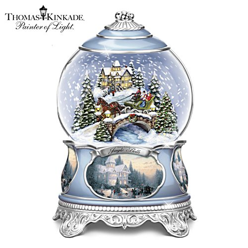 Thomas Kinkade 'Jingle Bells' Lit Snowglobe