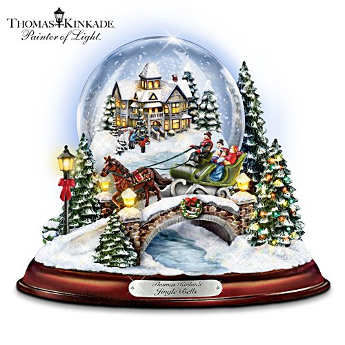 Thomas Kinkade 'Jingle Bells' Snow Globe