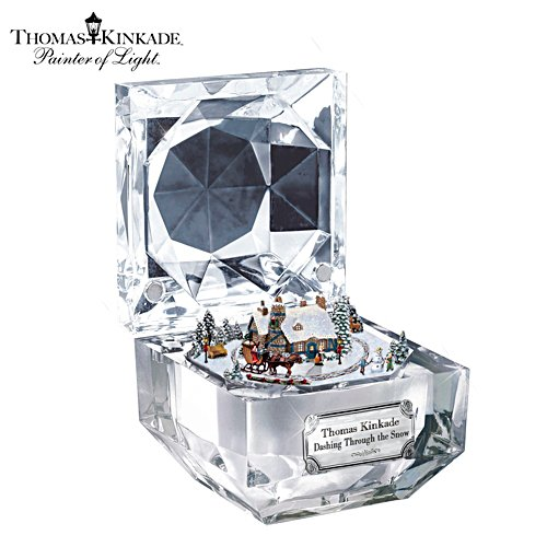 Thomas Kinkade Dashing Through the Snow Music Box