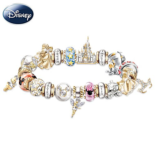 Disney Believe, Wish, Dream And Imagine Charm Bracelet