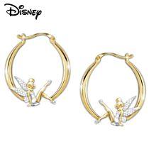 Engraved Tinker Bell Diamonesk Earrings