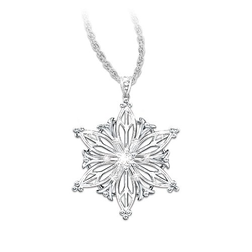 Diamond Snowflake Granddaughter Pendant