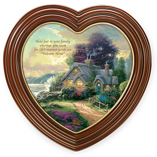 "Thomas Kinkade ""Welcome Home"" Framed Canvas Print"