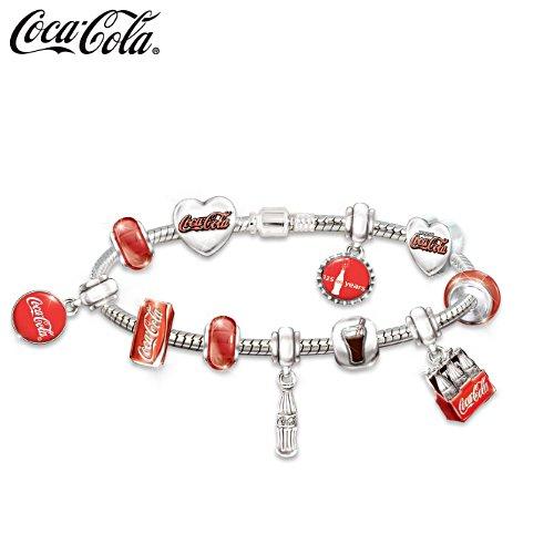 Coca-Cola-liefde – zilvergeplatteerde armband