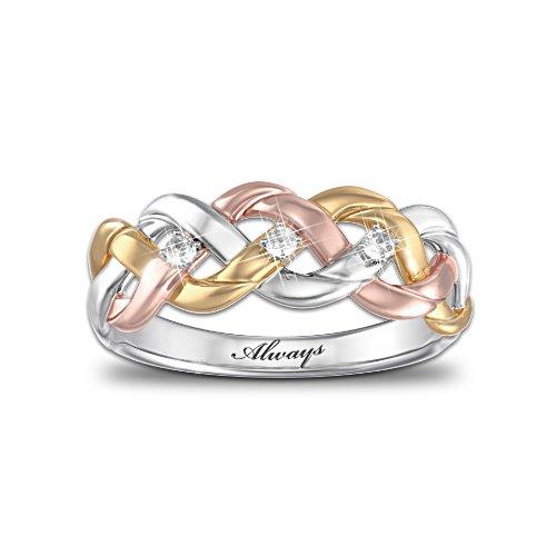 'Strength Of Our Faith' Tri-Colour Diamond Ring