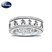 Disney Mickey Mouse Women's Ring With Engraved Spinning Band