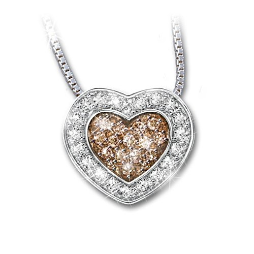 """Heart Of Love"" Mocha Diamond Pendant"