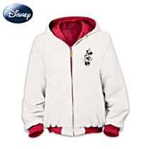 Disney Mickey Mouse and Minnie Mouse Reversible Women's Jacket