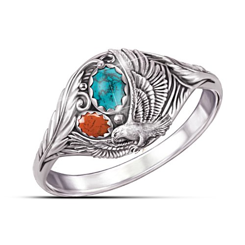"""Spirit Of The Eagle"" Turquoise Ring"