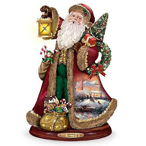 Thomas Kinkade Deck the Halls Singing Santa