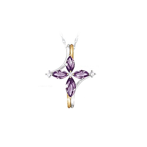 The Trinity Amethyst And Diamond Necklace