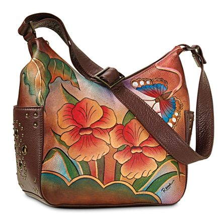 'Orchid Sunset' Leather Handbag By Roma
