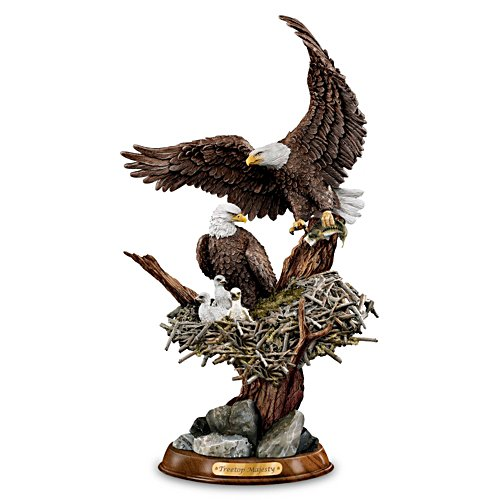 Bald Eagle 'Treetop Majesty' Sculpture