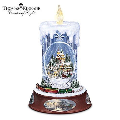 Thomas Kinkade 'Making Spirits Bright' Centrepiece