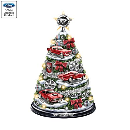 Ford Mustang Illuminated Christmas Tree With Revving Sound