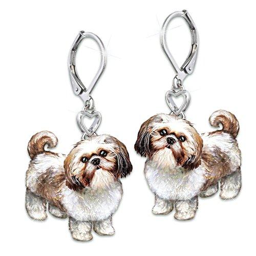 'Playful Pup' Shih Tzu Earrings