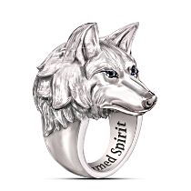 """Leader Of The Pack"" Wolf Ring"