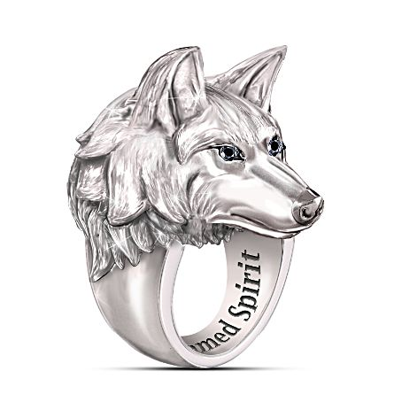Quot Leader Of The Pack Quot Wolf Ring