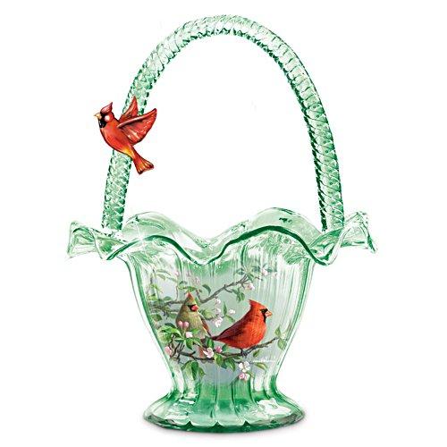 James Hautman 'Cardinal Serenade' Hand-Blown Art Glass Bowl