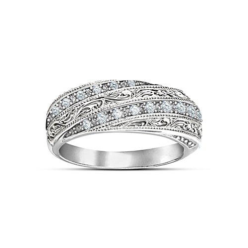 """Diamond Elegance"" Filigree Diamond Ring"