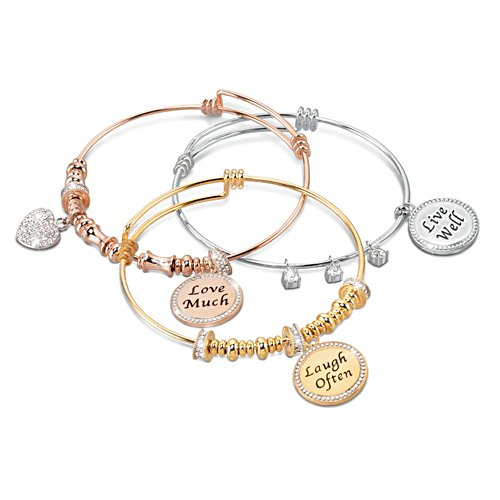Live Well, Love Much, Laugh Often Bracelet Set