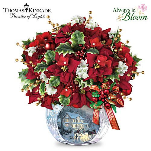 "Thomas Kinkade ""Bringing Holiday Cheer"" Table Centrepiece"