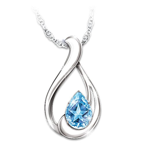 Heavenly Star Blue Topaz Necklace