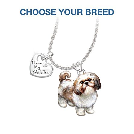 Diamond Dog Pendant Necklace