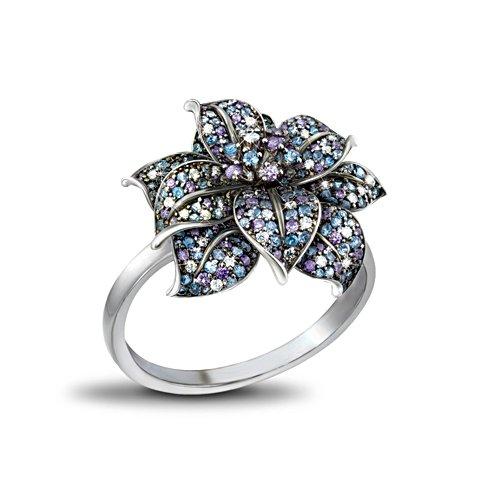 Mitternachtsrose Diamonesk™-Ring