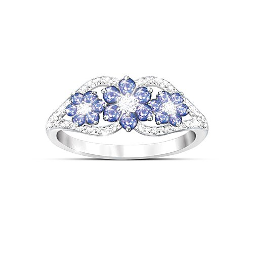 'African Violets' Tanzanite And Diamond Ring