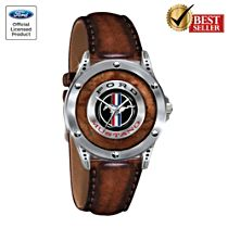 "Ford Mustang ""Untamed American Spirit"" Men's Leather Watch"