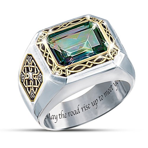 'The Legend Of Ireland' Men's Mystic Topaz Ring