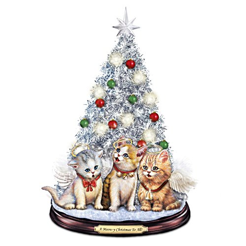 'A Meow-y Christmas To All' Tabletop Christmas Tree
