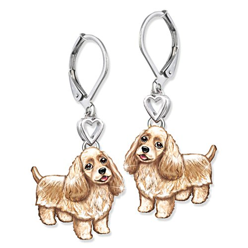 'Playful Pup' Cocker Spaniel Earrings