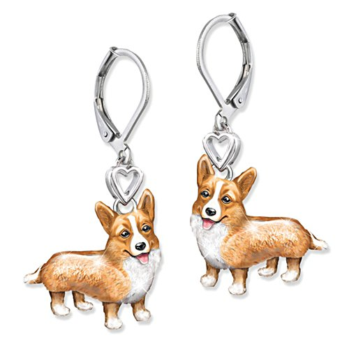'Playful Pup' Corgi Earrings