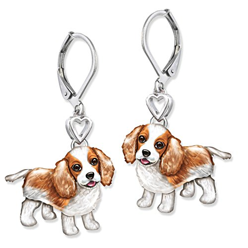 'Playful Pup' King Charles Earrings
