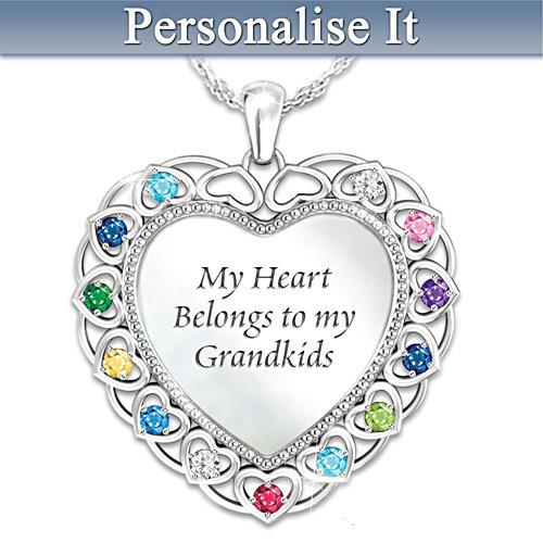 My Heart Belongs to My Grandkids Personalised Pendant