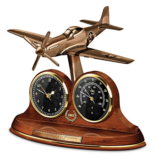 P-51 Mustang Thermometer Clock