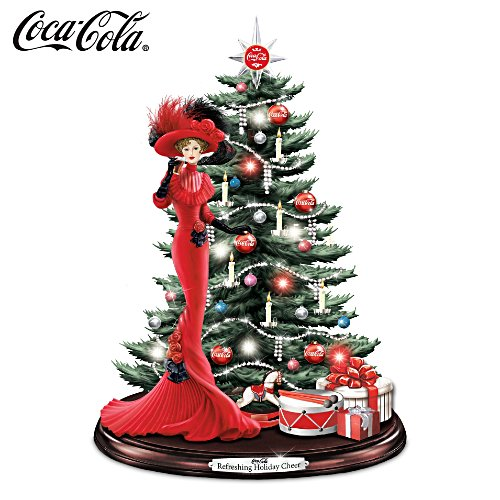 COCA-COLA Illuminated Musical Tabletop Christmas Tree