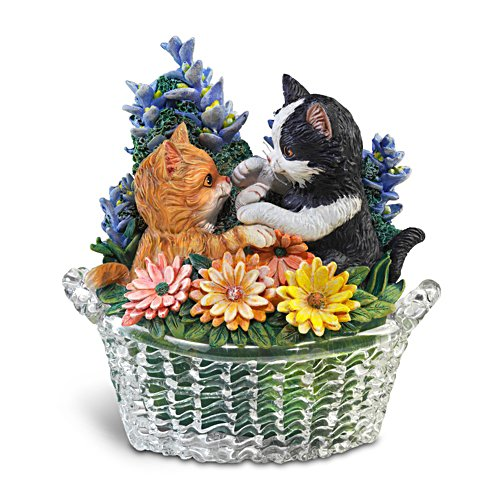 Patty Cake Petals Figurine with Glass Basket