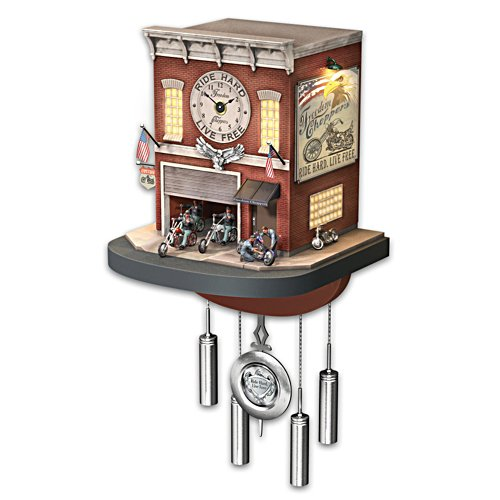 'Freedom Choppers' Motorcycle Cuckoo Clock